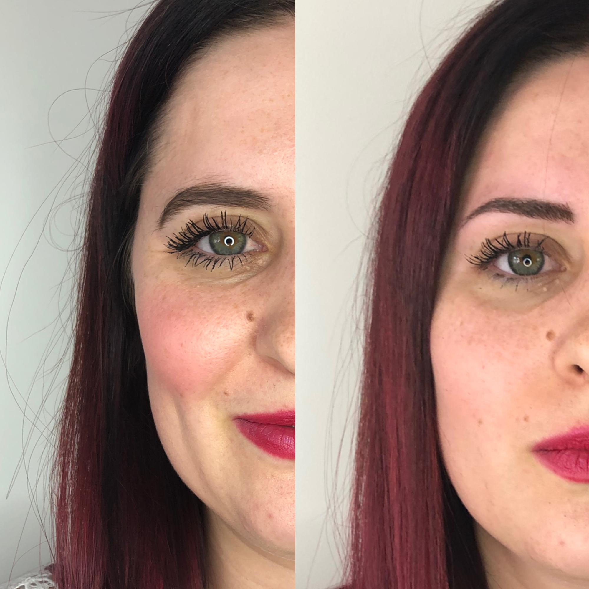 Avant et Après une séance de microblading chez Perle de Soie
